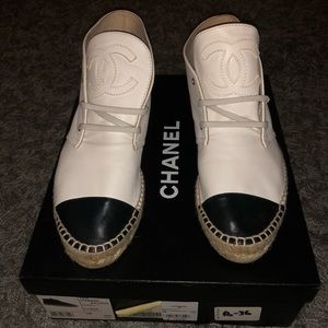 Chanel high top espadrilles